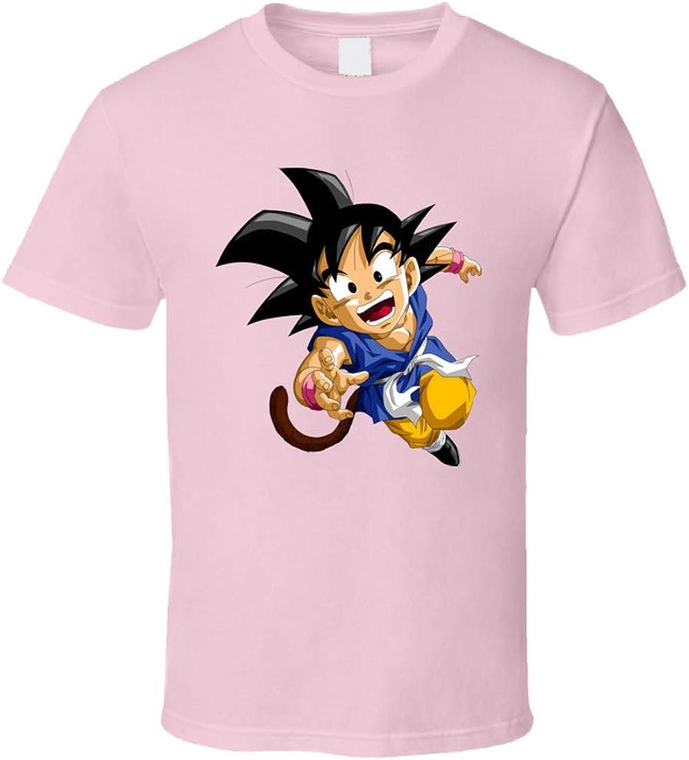 Dragon Ball Goku Kids Camiseta Rosa Claro: Amazon.es: Ropa y ...