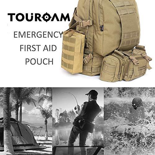 TOUROAM Trauma Medical First Aid Kit -Tactical Emergency Israeli Bandage-Survival Military Combat Tourniquet-Small IFAK… 5