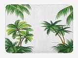 ziHeadwear Bathroom Bath Rug Kitchen Floor Mat Carpet,Patio Decor,Thailand Pattaya City Ocean Sea Shore View Balcony Veranda Terrace,White Black and Green,Flannel Microfiber Non-slip Soft Absorbent