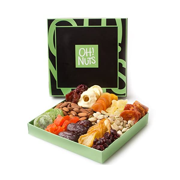 Christmas Gift Baskets For Families: Holiday Nut And Dried Fruit Gift Basket, Healthy Gourmet