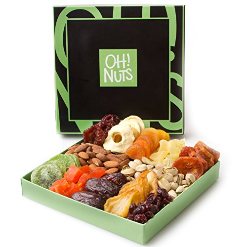 Holiday nut and dried fruit gift basket healthy gourmet