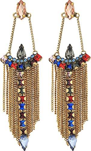 Multi Stone Chandelier Earrings - 3