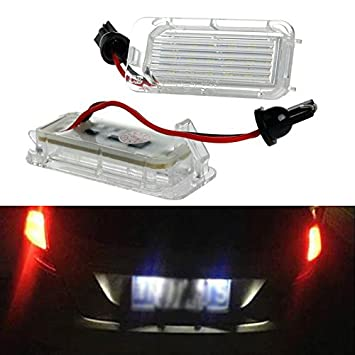 New 2pcs con 18 luces LED Canbus luz de matrícula lámpara para Mondeo Focus 5d C-Max: Amazon.es: Coche y moto