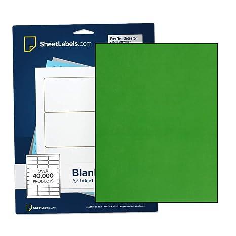 Amazon.com: Papel adhesivo verde, etiquetas de hoja completa ...