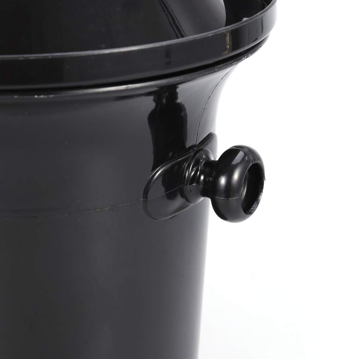 Yardwe 2 piezas spittoon de degustaci/ón de vino spittoon de vino negro cubo de descarga de vino doble orejas cubo de hielo para fiesta