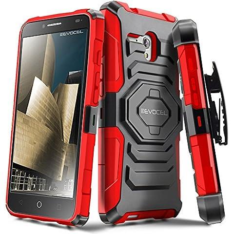 Evocel Alcatel OneTouch Fierce XL [New Generation] Rugged Holster Dual Layer Case [Kickstand][Belt Swivel Clip] For Alcatel OneTouch Fierce XL (2015 Release), Red (Evocel Case Alcatel)