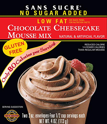 SANS SUCRE Chocolate Cheesecake Mousse Mix  Gluten Free