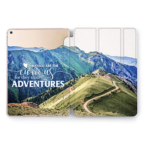 Wonder Wild Adventure Case iPad 5th 6th Generation Mini 1 2 3 4 Air 2 Pro 10.5 12.9 2018 2017 9.7 inch Cute Cover Design Voyage Smart Pattern Colorful Trip Road High Way Bless Curious Backpacker ()