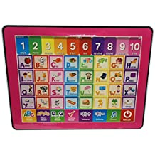 Cooplay Red Y-pad Easy Pad Touch Screen Tablet Study English Educational Music Computer Spelling Letters Words Quiz Teaches Learning Abc ipad Electronic Toys For Kids Baby Gift