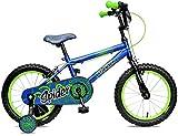 Concept Spider 16' Wheel Boys Mountain Bike Blue/Green