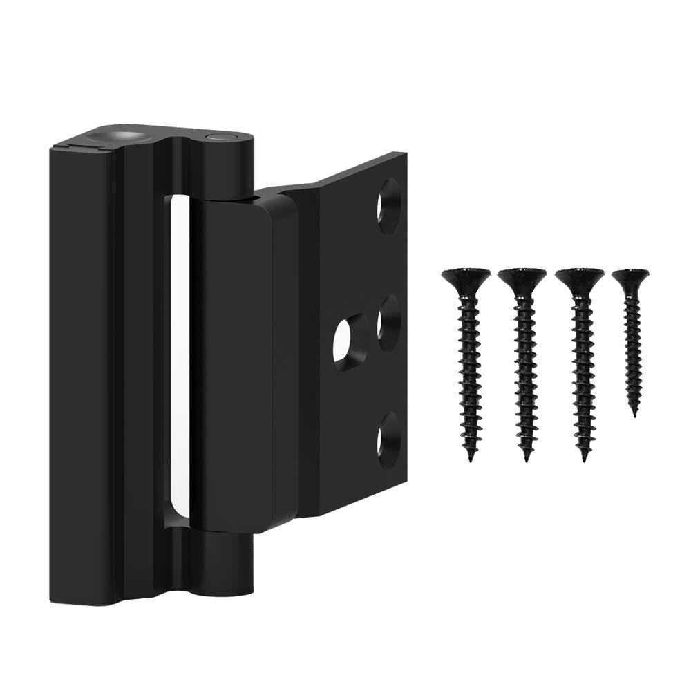 ホームセキュリティ チャイルドプルーフ ドア補強ロック ブラック  Black 1PCS B07NZTF69M