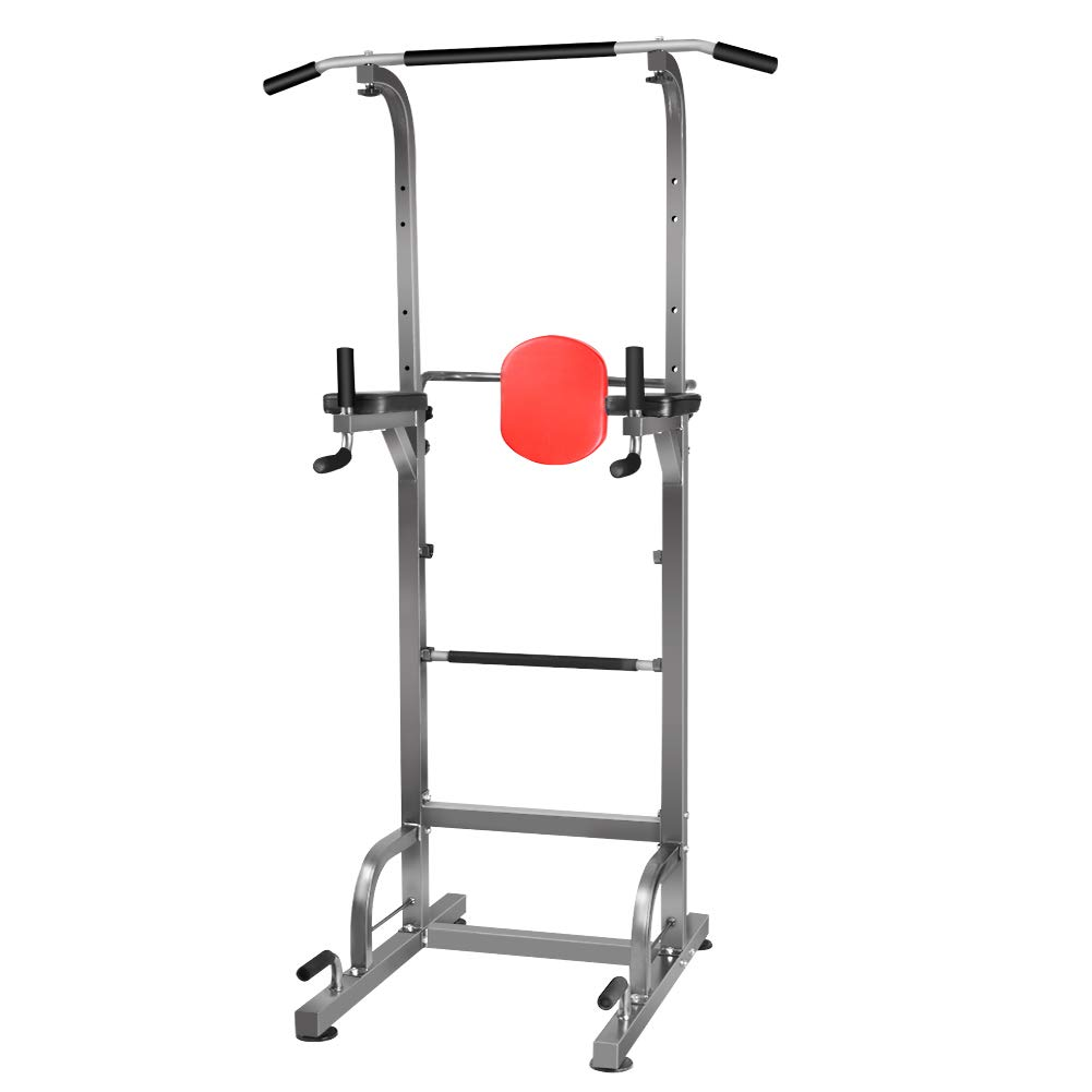 Rxlife Power Tower Heavy Duty Pull Up Dip Station Workout Exercise Equipment for Home Gym Strength Training Fitness All in 1 Machine