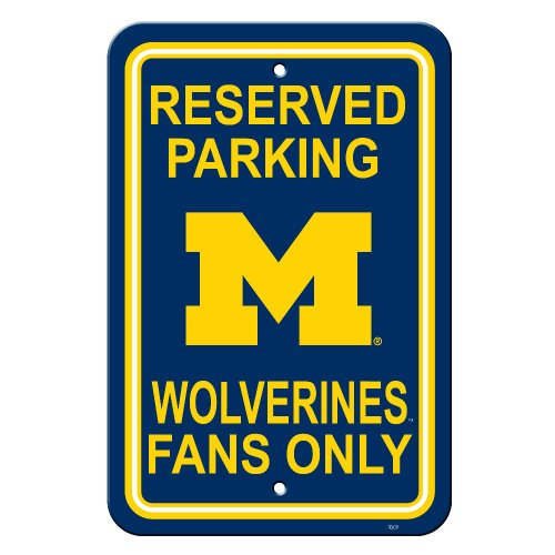 - NCAA Michigan Wolverines 12-by-18 inch Plastic Parking Sign