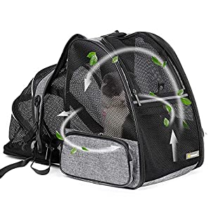 Texsens Cat Backpack Carrier, Super Breathable Carrier Backpack, Airline-Approved Bubble Cats and Puppies Backpacks…