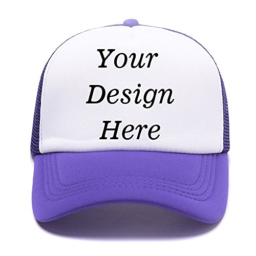Flex Fit Sandwich Bill Cap (Custom Hats - Design Your Personalized Photo or Text To our Classic Trucker Hat Unisex Adjustable Baseball Cap)