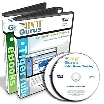 YouTube for Business Tutorial Training plus Marketing Ebooks on 2 DVDs