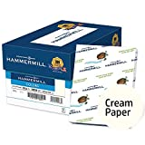Hammermill Colored Paper, Cream Printer Paper, 20lb, 8.5x14 Paper, Legal Size, 5000 Sheets / 10 Ream Case, Pastel Paper, Colorful Paper (168040C)
