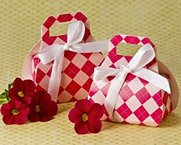 perfectly plaid pink purse favor box 24 pack bridal shower favors baby