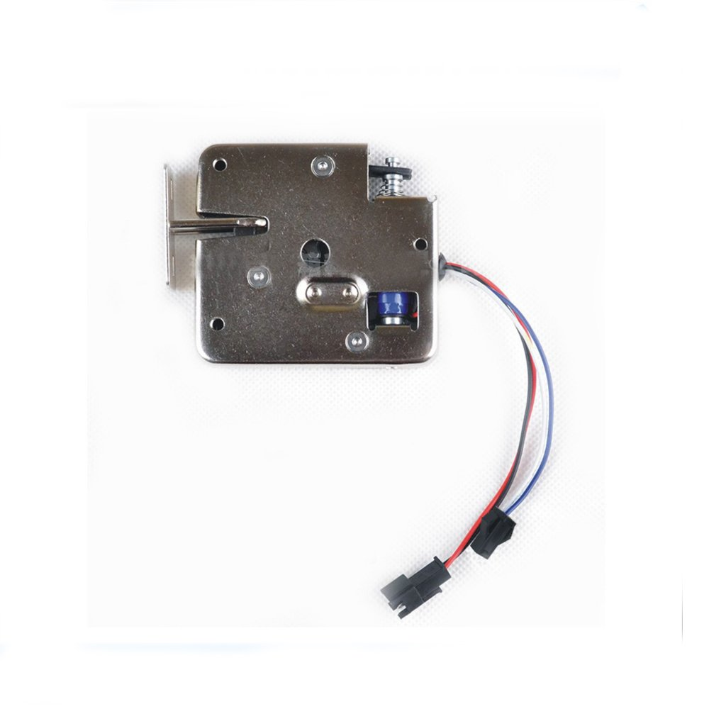 CSLU DC12V 2A Small Electric Cabinet Lock, Cabinet Access Control Stainless Steel Magnetic Content Electronic Lock (24V)