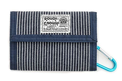 Rough Enough Minimalist Travel Credit Card Canvas Wallet Case Holder Pouch Bag Front Pocket Bifold Portable Coin Cash Organizer with Zipper Pocket for Boys Girls Mens Women Outdoor School Sport