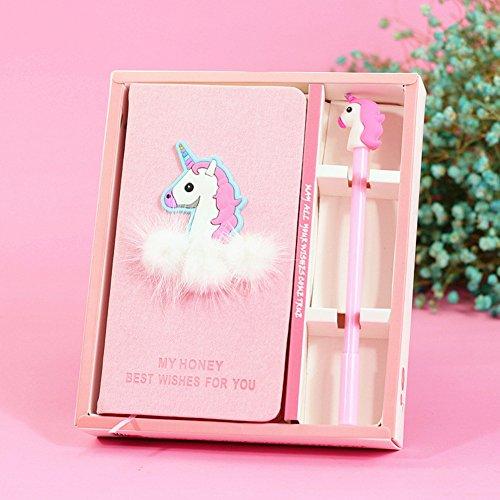 DPIST Unicorn Journal Gel Pens Set -Lovely Birthday Gifts for Girls of All Ages: 3 4 5 6 7 8 9