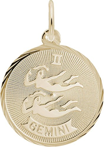Rembrandt Gemini Constellation Charm - Metal - Gold-Plated Sterling Silver