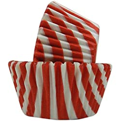 Regency Wraps Greaseproof Baking Cups, Red and White Stripes, 40-Count, Standard.
