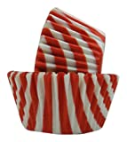 Regency Baking Cups for Cupcakes and Muffins, Red and White Stripes  GREASEPROOF, 40 count standard