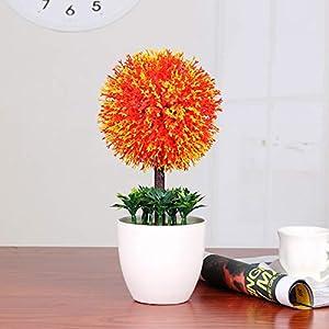 Fake Flower Snowball Simulation Plant Bonsai Home Decoration Plastic Desktop Living Room Decoration Ornaments-B 3