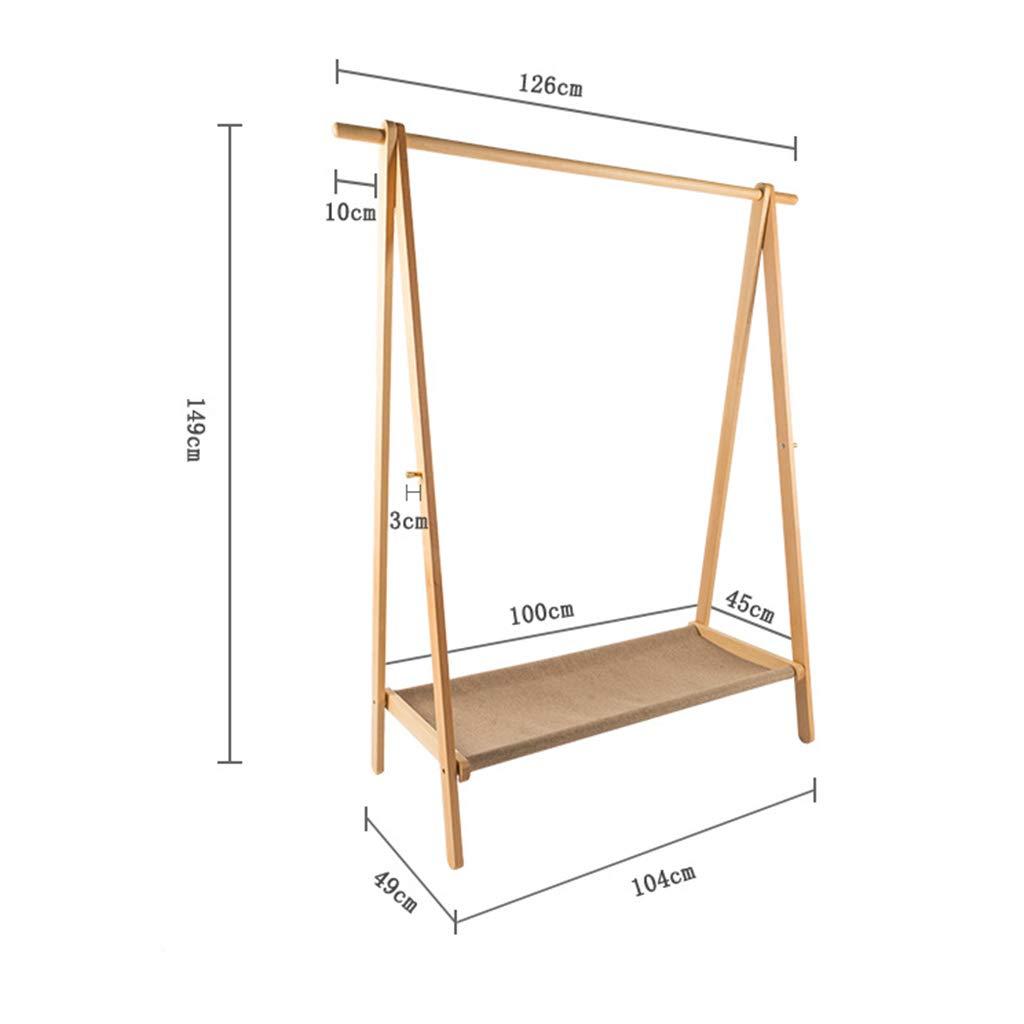 Amazon.com: SUN HUIJIE - Perchero de madera maciza para ...