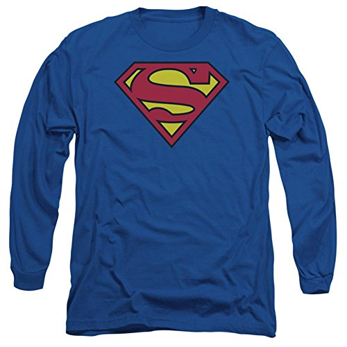 Superman Classic Shield Adult Long-Sleeve T-Shirt, Medium