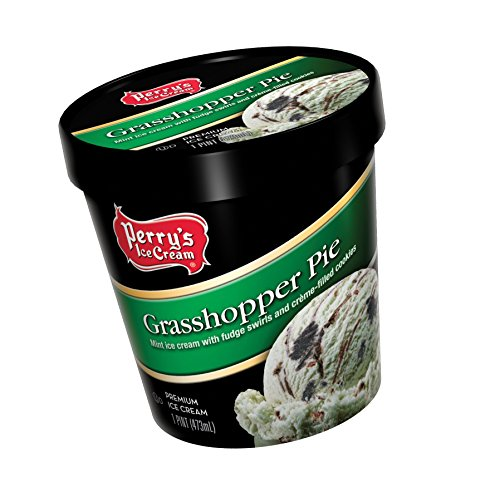 Perry's Ice Cream Pint, Premium, Grasshopper Pie - Pack of 8 by Perry's Ice Cream (Image #1)
