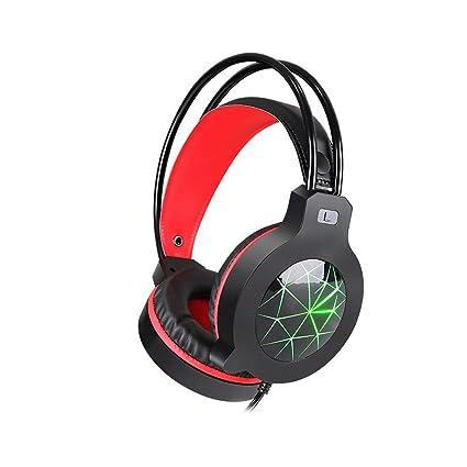 HTACSA Auriculares Bass Pc Game, Auriculares De Juego De Micrófono para La Nueva Xbox One