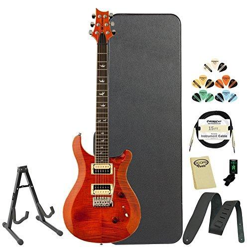 Paul Reed Smith Guitars CM4F30OR-KIT-02 SE Custom 24 30th Anniversary Orange Flame Top Electric Guitar (30th Anniversary Electric Guitar)