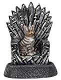 Funny Guy Mugs Cat On A Throne Garden Gnome Statue- Indoor/Outdoor Garden Gnome Sculpture Patio, Yard Lawn