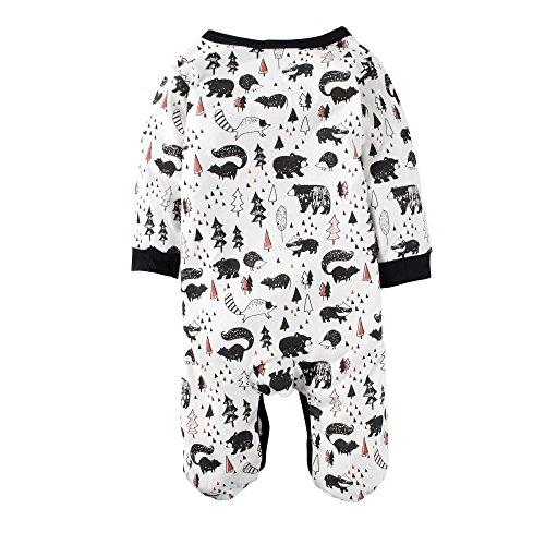 Jaylon Baby Climbing Clothes Romper Funny Apple Infant Playsuit Bodysuit Creeper Onesies White