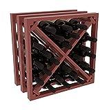Cheap Wine Racks America Ponderosa Pine Lattice Stacking X Cube. Cherry Stain + Satin Finish