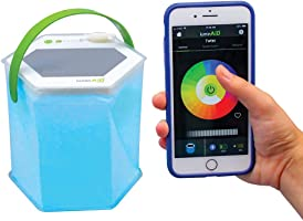 LuminAID Bloomio Twist Solar Lantern with Bluetooth and iPhone/Android App-Integration