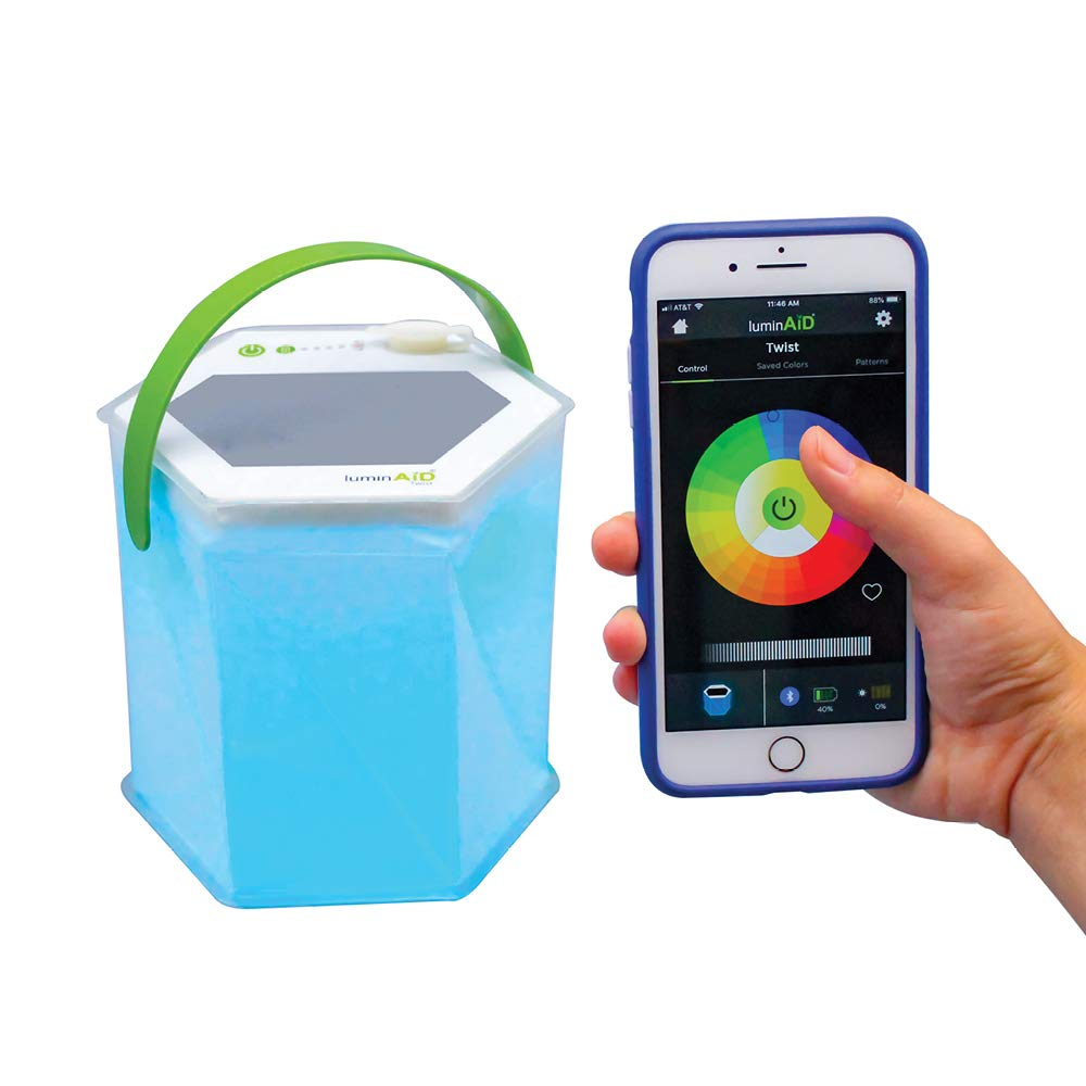 LuminAID Bloomio Twist Solar Lantern with Bluetooth and iPhone/Android App-Integration by LuminAID