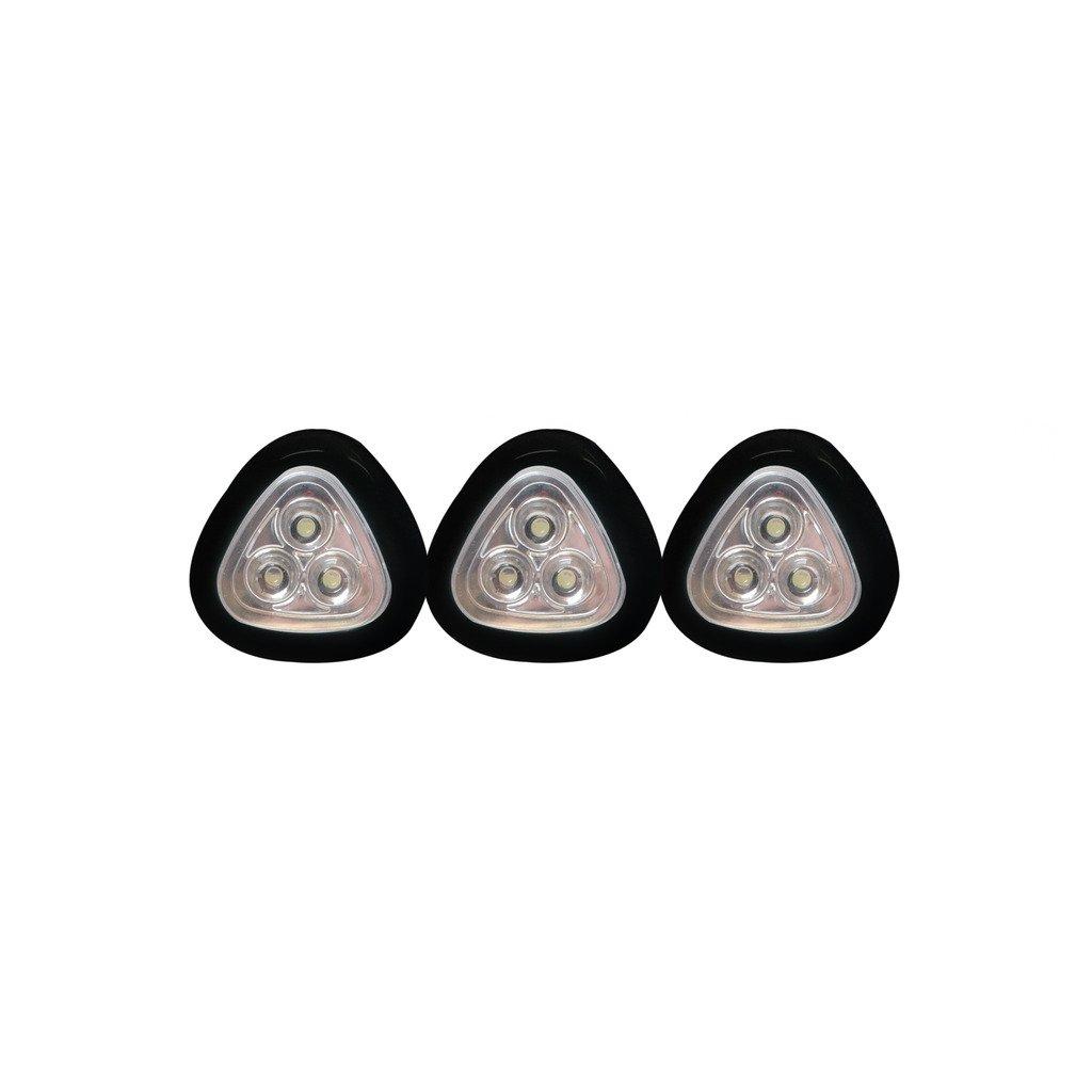 The Sharper Image LED Push Light – 3-Pack (Black)