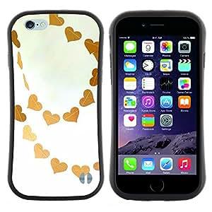 """Hypernova Slim Fit Dual Barniz Protector Caso Case Funda Para Apple (4.7 inches!!!) iPhone 6 / 6S (4.7 INCH) [Marrón Cielo Amor blanco del arte""""]"""