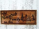Camping Sign with Pull behind Camper, Family Campsite Sign, C104