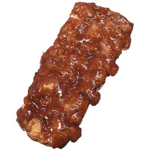 Advance Pierre Fully Cooked Flamebroiled Boneless Rib Shaped Pork Patties with Sauce, 4.25 Ounce -- 50 per case. (Cook Boneless Ribs)