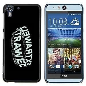 """For HTC Desire Eye ( M910x ) Case , Electronic Cartel de la música de la banda Negro"""" - Diseño Patrón Teléfono Caso Cubierta Case Bumper Duro Protección Case Cover Funda"""