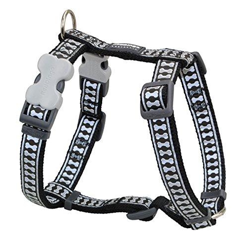 Red Dingo Reflective Dog Harness, Large, Black