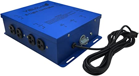 Yield Lab 8 Outlet Grow Light Relay Controller (120v/240v) – Hydroponic, Aeroponic, Horticulture Growing Equipment