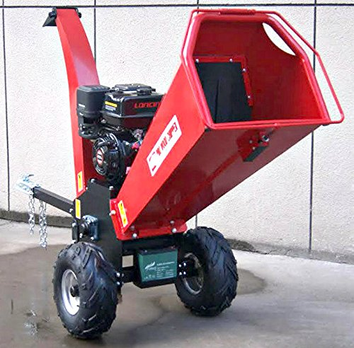 Wood-Chipper-Cutter-Leaf-Mulcher-Shredder-5-Inch-Capacity-Adjustable-Deflector-Vane-Discharge-Chute-15HP-Gas-Power-4-Stroke-Motor-420cc-1-Year-Warranty-Model-DR-CS-15HP
