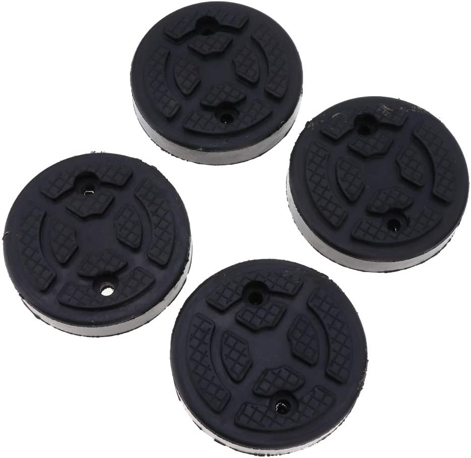 B Baosity 4 Pieces Car Rubber Jack Pad Jack Support Block Frame Protector Adapter Square Universal Rubber Lift Pads