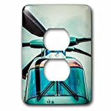 3dRose Alexis Photography - Transport Air - Stylized frontal partial view of a helicopter - Light Switch Covers - 2 plug outlet cover (lsp_267361_6)