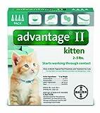 Bayer Advantage II Kitten Flea Treatment for Kittens, 2 - 5 lb, 4 doses